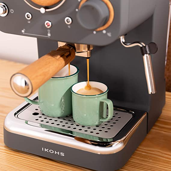 IKOHS THERA Retro - Cafetera Express para Espresso y ...