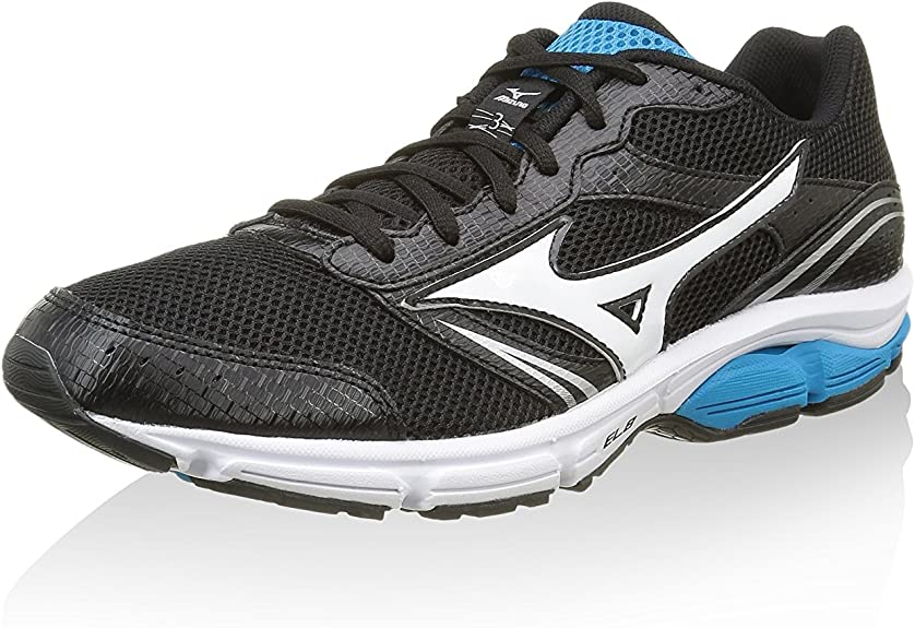 Mizuno Wave Impetus 3 Mens Black Cushioned Running Sports Shoes Trainers