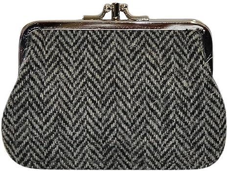 Monedero Tradicional de Diseño Black Herringbone Harris ...