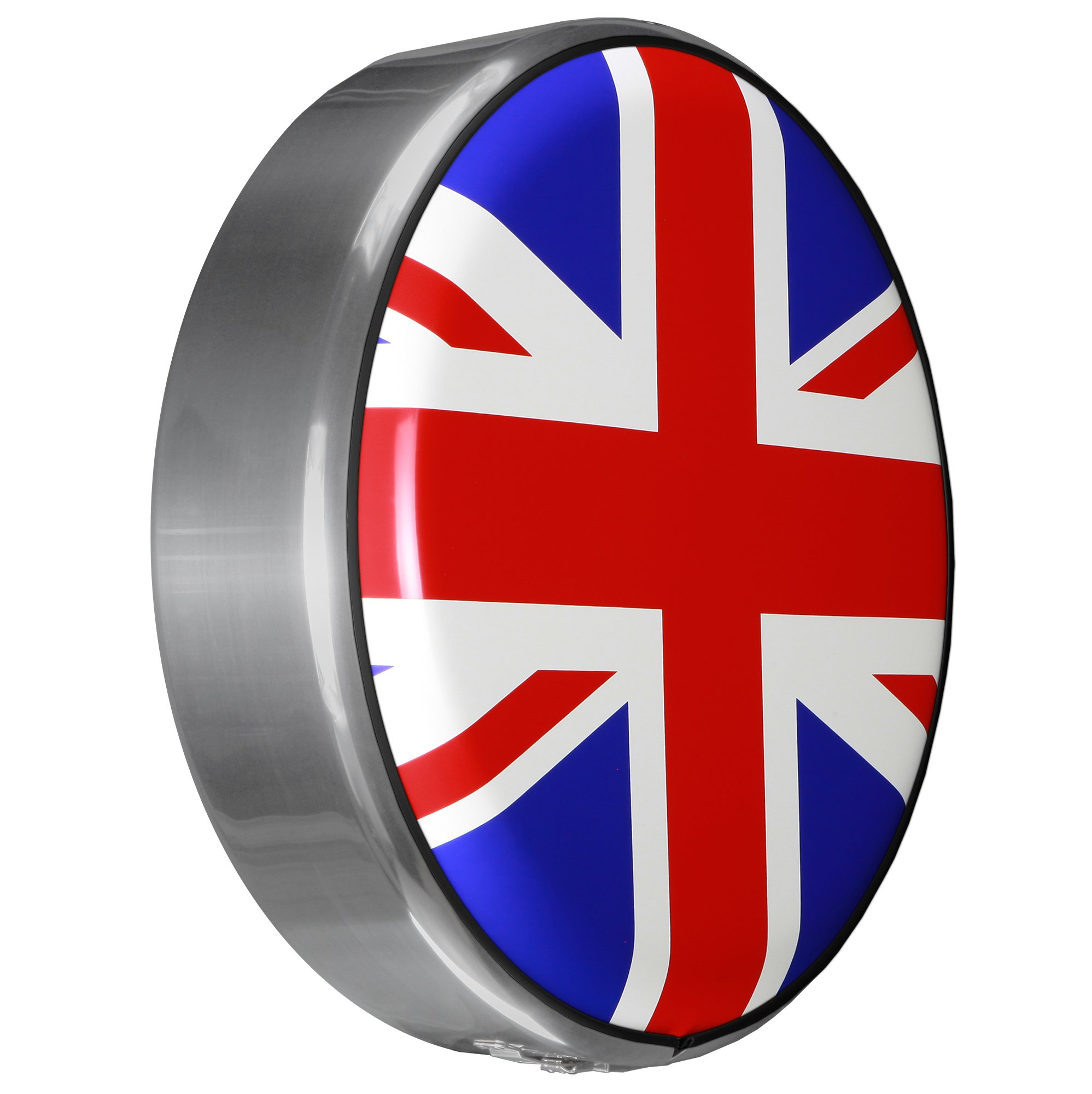 MasterSeries - Continental Tire Cover Kit (245/75R16 ) - (Molded Plastic Face & Polished Stainless Ring) - Union Jack Flag Print by Boomerang (Image #1)