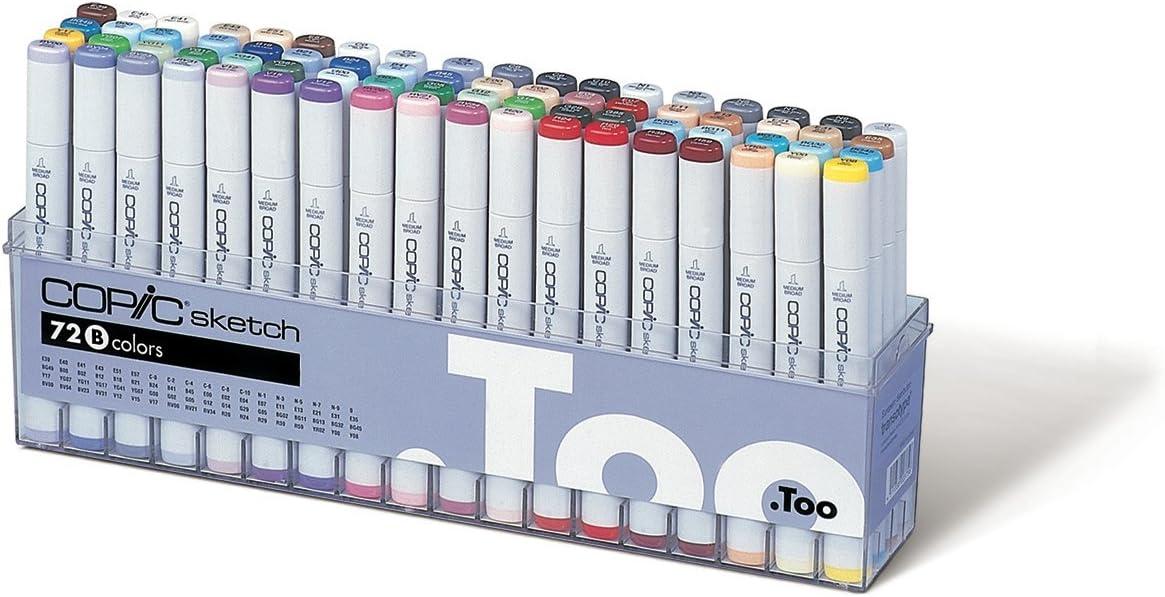 Copic Set A Sketch Marker (paquete de 72): Amazon.es: Oficina y papelería