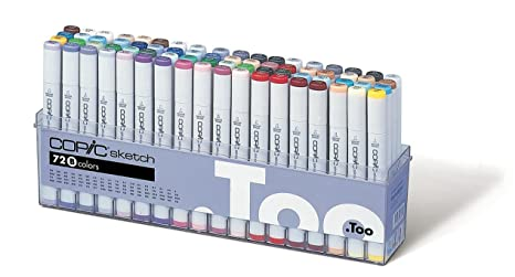 Copic Sketch Markers 72pc Set, Set B Art & Craft Supplies at amazon