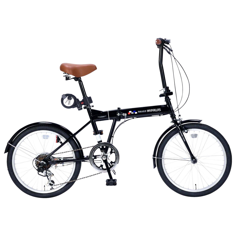 My Pallas(マイパラス) 折畳自転車20インチシマノ6段ギアライトカギ付 AZ-206FD1 B079ZRNYDZ ブラック ブラック