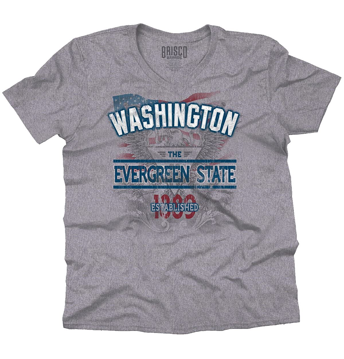 Washington Estado American Eagle US T Shirt patriótica Idea de ...