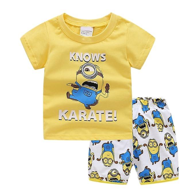 Amazon.com: Sidney niños Minions Patrón pantalones conjuntos ...