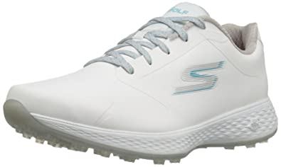 Skechers Performance Women's Go Golf Elite 2 Tour Golf Shoe, White/Blue, 6 M US