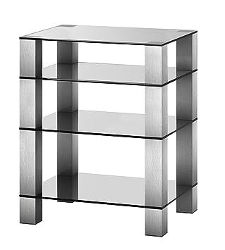 RX5040TG Mueble HIFI de 4 estantes Vidrio transparente Chasis