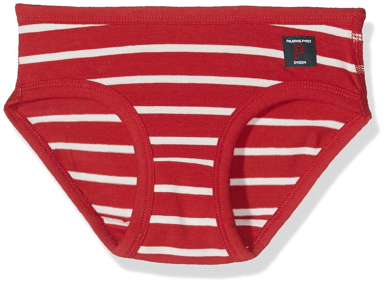 6-12YRS Pyret 1 Pack Classic Stripe Girls ECO Brief Polarn O