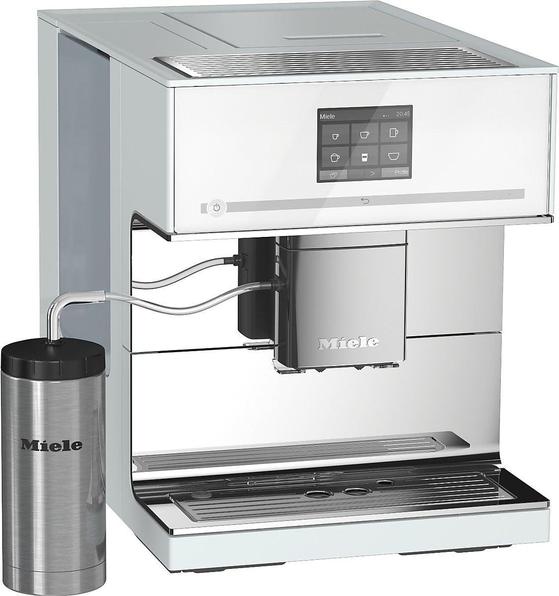 Miele CM 7500 Independiente Totalmente automática Máquina espresso 2.2L 14tazas Blanco - Cafetera (Independiente, Máquina espresso, 2,2 L, Molinillo integrado, 1500 W, Blanco): Amazon.es: Hogar