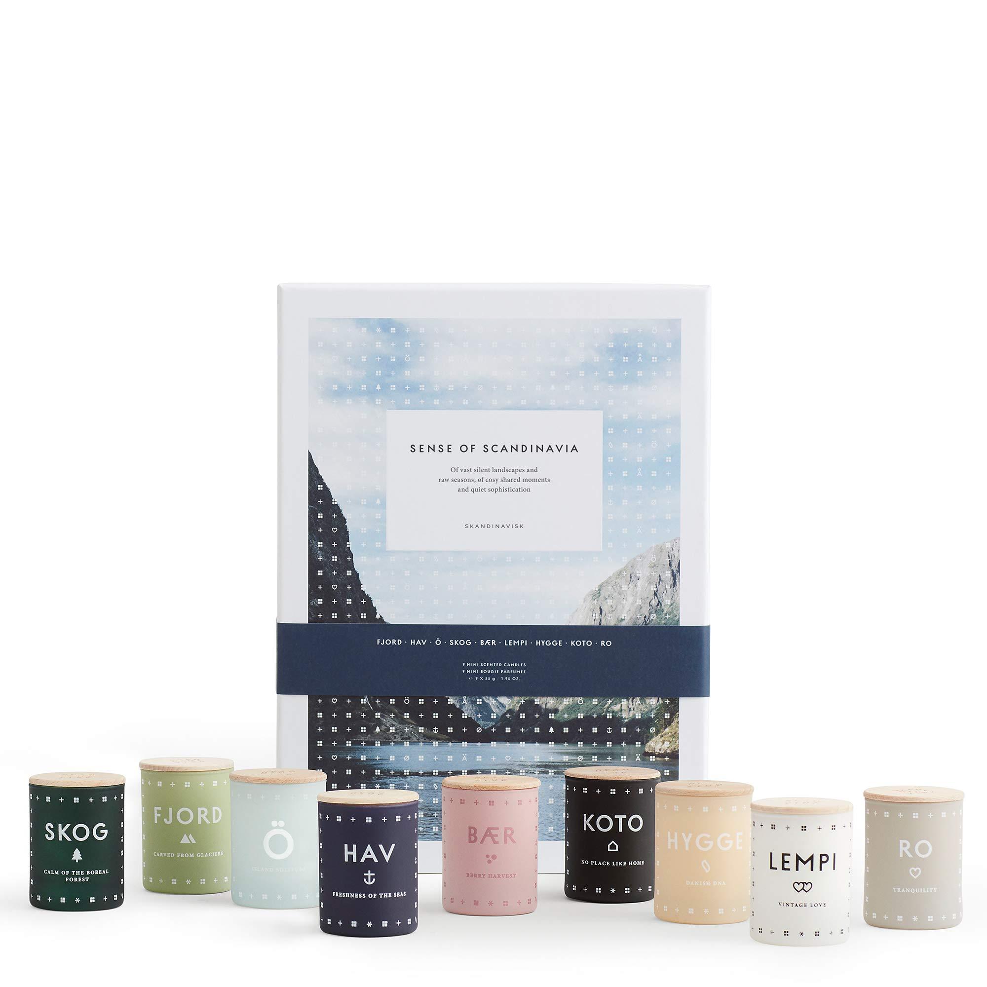 SKANDINAVISK Sense of Scandinavia Mini Candle Gift Set of 9 x 1.94 Oz