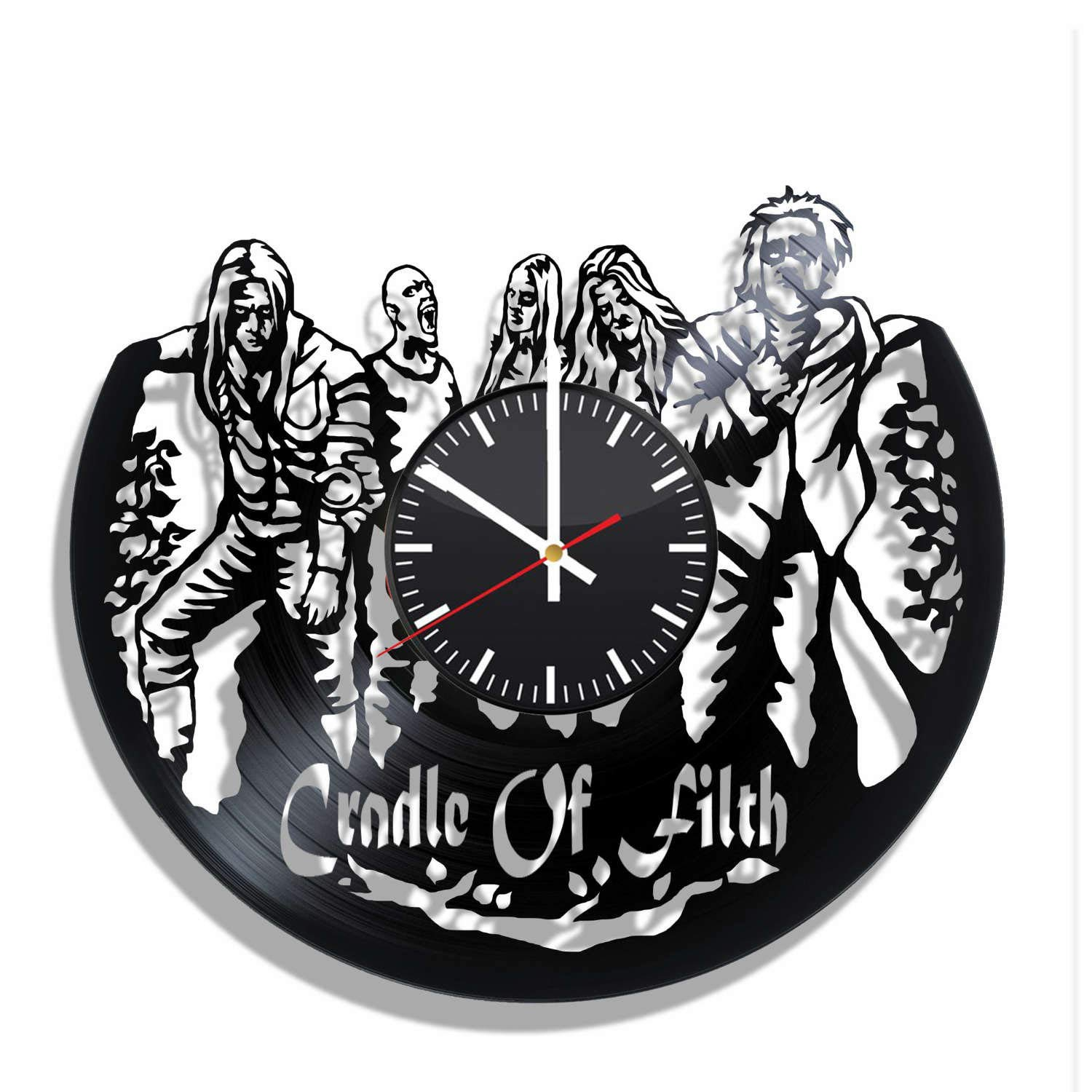 Cradle of Filth vinyl record wall clock, Cradle of Filth kitchen decor