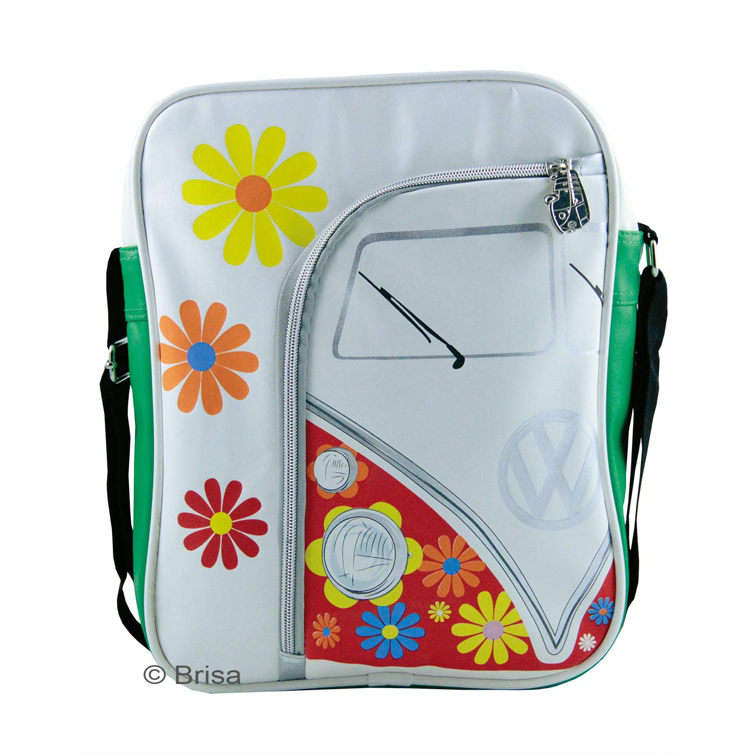 1f77c38a23 Amazon.com  VW Collection by BRISA VW T1 Bus Shoulder Bag Portrait - Flower  Power  Shoes