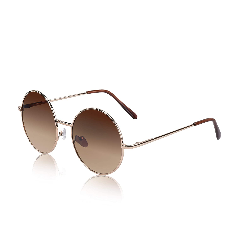 20ccb9ff6 Amazon.com: Round Hippie Sunglasses Men Hippy fun Groovy Ozzy Osbourne  Glasses Brwn Gradient: Clothing