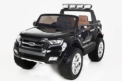 Coche eléctrico para niños Ford Ranger Wildtrak 4X4 LCD Luxury - 2.4Ghz, Pantalla LCD TACTIL, NEGRO, ...