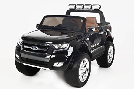 Coche eléctrico para niños Ford Ranger Wildtrak 4X4 LCD Luxury - 2.4Ghz, Pantalla LCD TACTIL, NEGRO, 2x12V, 4 X MOTOR, mando a distancia, dos asientos ...