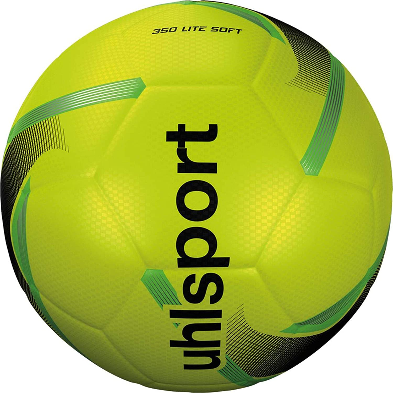 Uhlsport 350 Lite Soft Balón fútbol, Juventud Unisex, Yellow/Black ...