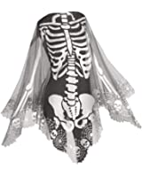 Heritage Lace Skeleton Poncho, 60 by 60-Inch, Pewter