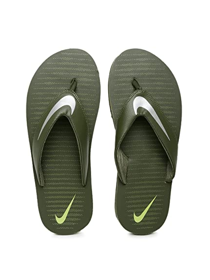 b05b3c217c5a Nike Men s Olive Green Flip-Flops and House Slippers (N833808301GRN) (9 UK