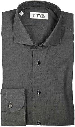 Centopercento - Camisa clásica de sastrería para Hombre Panamá, Cosida a Mano: Amazon.es: Ropa y accesorios