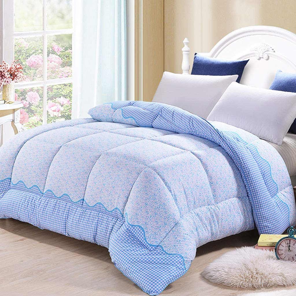 Padded Warm Winter Quilt Double Bedroom Bedding 1.5M (Color : Blue)