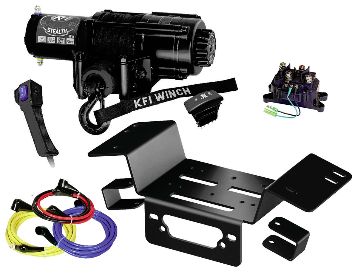 XTREME Winch 4500LB ATV Winch With Model Specifc Mount Fits 2015-2018 HONDA PIONEER 500