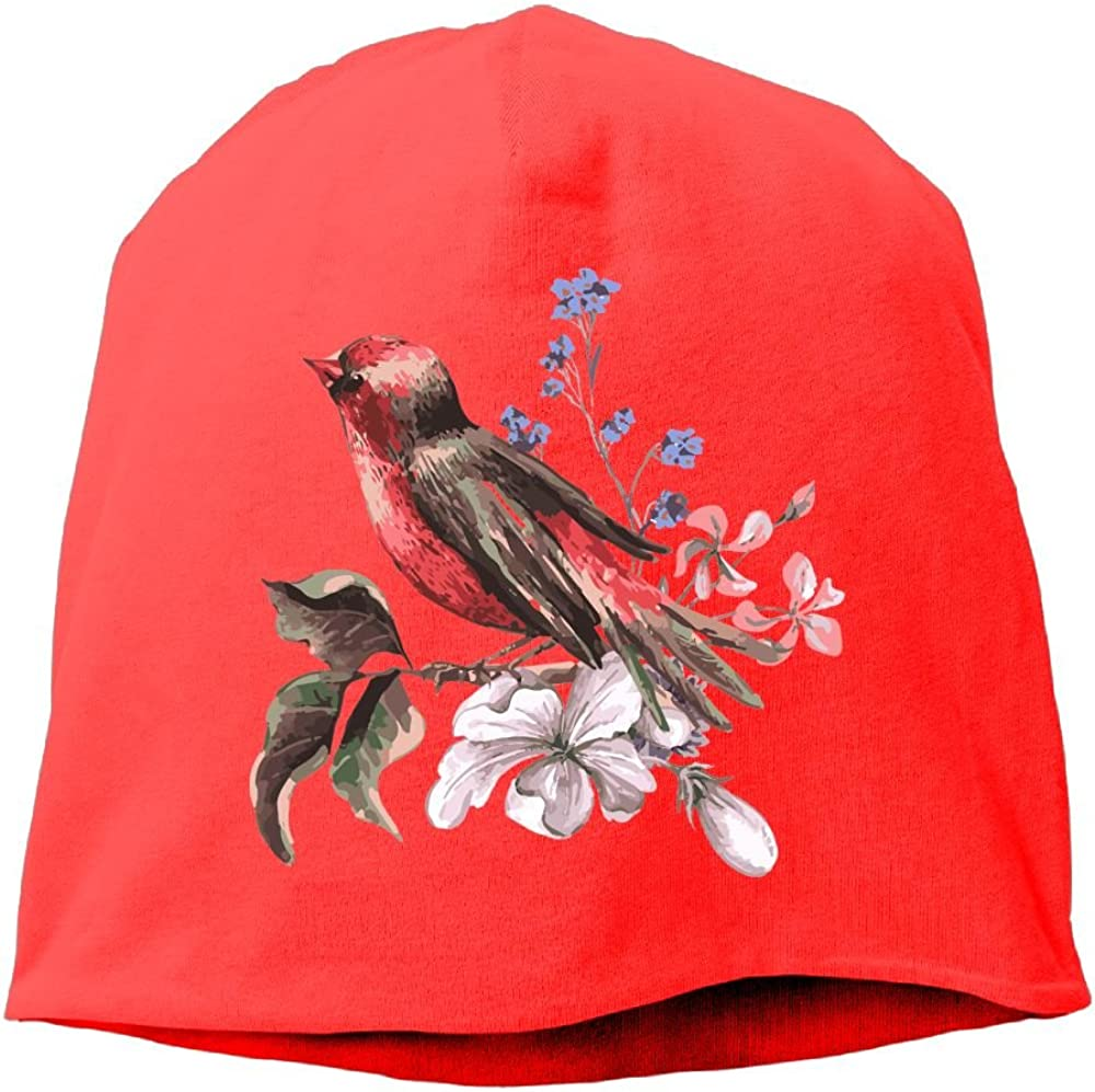 Reteone Fashion Solid Color Chinese Birds Style Warm Cap for Unisex RoyalBlue One Size