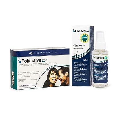 Caída del cabello - Foliactive Pills + Foliactive Spray: Pastillas y Spray para detener la