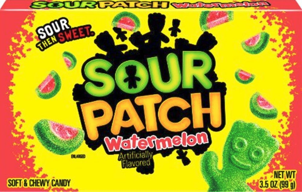 Sour Patch Watermelon Soft & Chewy Candy (Pack of 6) by Generic