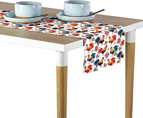 Fabric Textile Products Rise Shine Roosters Milliken Signature Table Runner