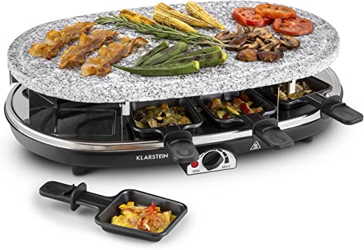 Klarstein Steaklette Raclette-Grill - Parrilla de mesa, Barbacoa ...