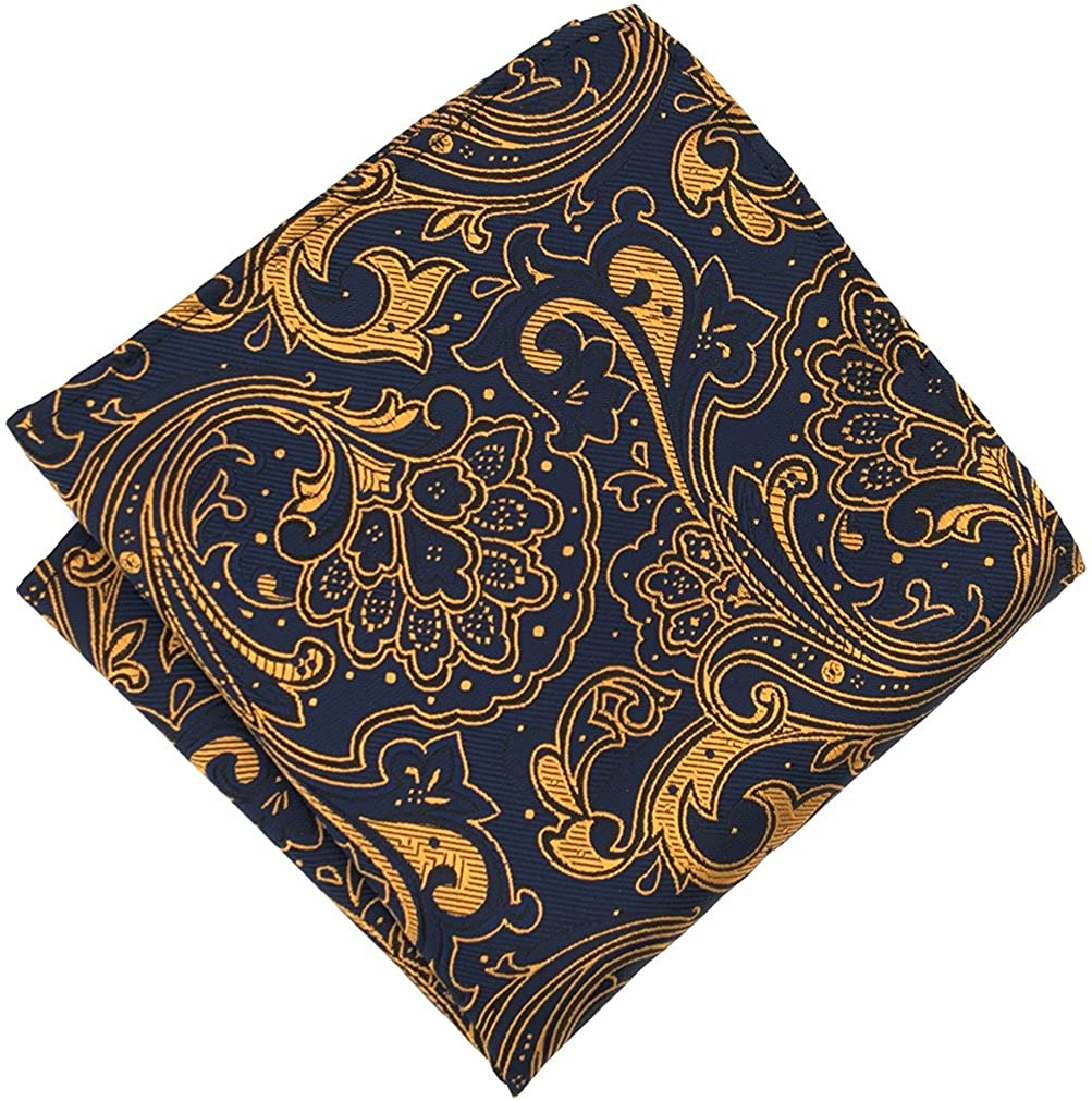 MOHSLEE Men's Yellow Floral Pre-Tied Bowtie Party Suit Bow Tie Pocket Square Set qz242