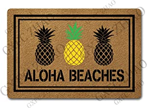 Funny Welcome Mats for Entrance Indoor Personalized Kitchen Rugs and Mats Anti-Slip Novelty Gift Mat(23.7 X 15.9 in) (Aloha Beaches Doormat Cute Pineapple Door Mats)