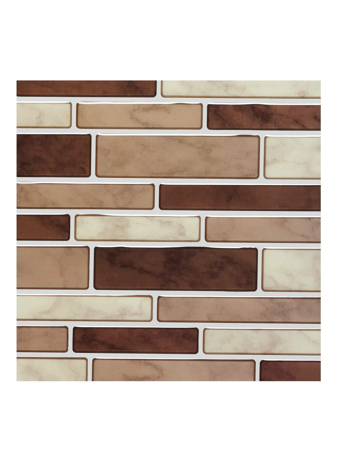 Rectangular Mosaic Tiles Brown Multi