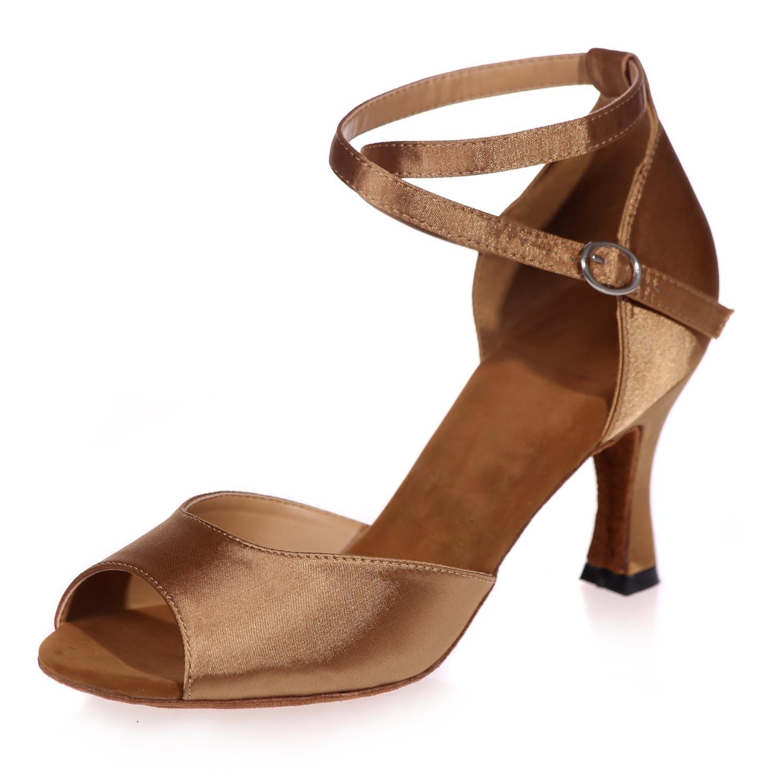 Frauen-Absatz-Schuhe öFfnen öFfnen öFfnen Sich Zehe-Leder Kuba, Das Mit Berufshallenstoff Gemacht Wird B0787CDJ39 Tanzschuhe Hochwertige Produkte 2333ca
