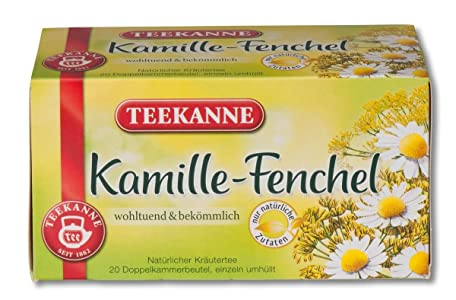 Teekanne Chamomile and fennel tea 20 Bags (6er Pack) natural sleep aids - 71rSEQumyhL - Natural sleep aids – the best supplements to end sleepless nights