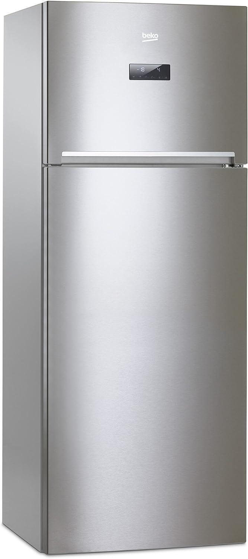 Beko RDNE455E20X Independiente 389L A+ Acero inoxidable nevera y congelador - Frigorífico (389 L, Antiescarcha (nevera), SN-T, 6 kg/24h, A+, Acero inoxidable): Amazon.es: Hogar