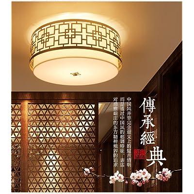 Angeelee Séjour Moderne Chinois De Circulaire Salle Plafonnier CsrhQtd