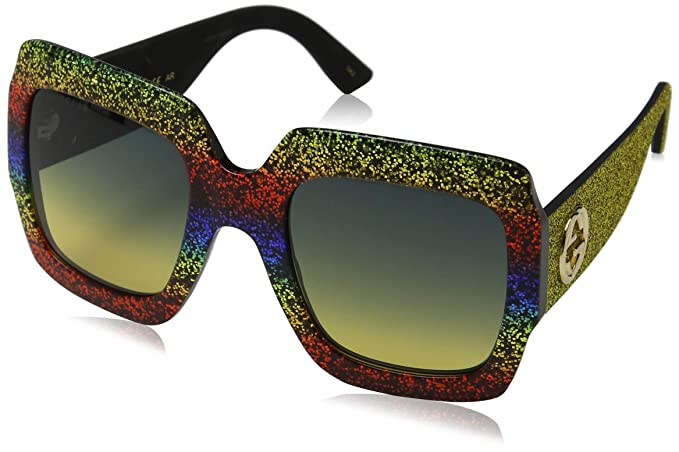 Amazon.com: Gucci GG0102S - Gafas de sol cuadradas para ...