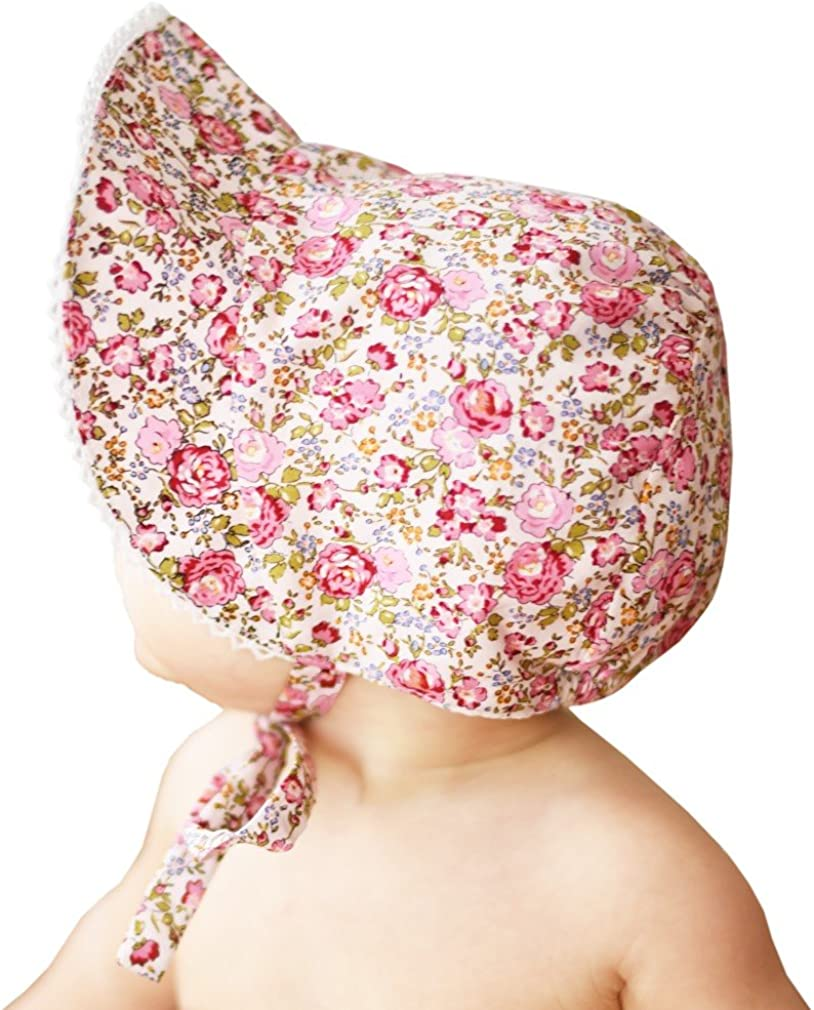 Huggalugs Baby or Toddler Girls Sunbonnet in Eyelet Lace or Floral Print Choices UPF 25+