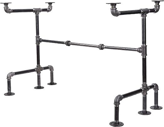 Metal Table Legs Set of 4 Black Heavy Duty for Industrial Home Office Desk Leg