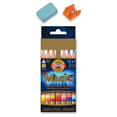KOH-I-NOOR MAGIC Jumbo Triangular Coloured Pencil (Pack of 15): Arts, Crafts & Sewing