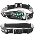 Aduro Sport Storage Running Pouch Belt Pack - iPhone 8 7 6s 6 Holder for Runners, Fitness Fanny Waist Pack, Expandable Large Pocket, Water and Sweat Resistant, Reflective Strips [Stride Flex]