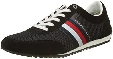 Mens Corporate Material Mix Runner Low-Top Sneakers, Grey, 8 UK Tommy Hilfiger