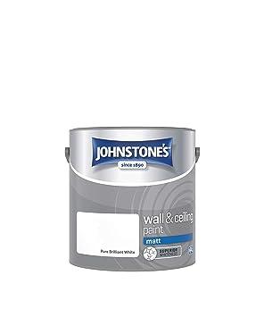 4d9026656 Johnstone's 303967 2.5 Litre Matt Emulsion Paint - Brilliant White ...