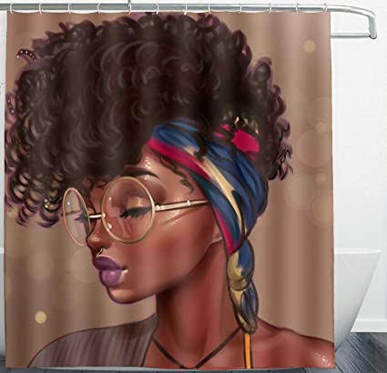 ARTS MAKER African American Shower Curtains