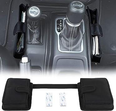 JeCar Gear Shifter Storage Box Center Console Storage Automatic Transmission Side Organizer Tray Interior Accessories for 2018-2020 Jeep Wrangler JL JLU /& 2020 Gladiator JT Black