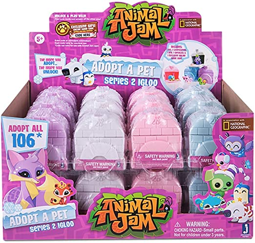 série 2 IGLOO Blind Box Animal Jam National Geographic adopter un animal de compagnie