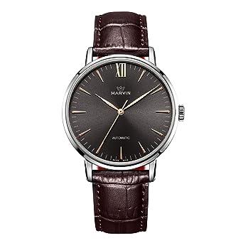 2f0810883a Amazon | スイス製 マービン 自動巻き メンズ 腕時計 ローズゴールド PVDケース コーヒー | メンズ腕時計 | 腕時計 通販