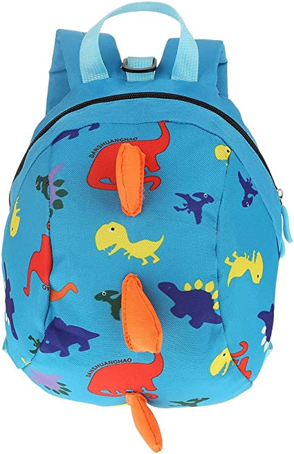 Kids Toddler Backpack Anti-Lost Dinosaur Backpack Schoolbag Cartoon Baby Safety Harness Lightweight Backpack Toddler Children(7.87 x 10.24 x 4.72in-Blue)