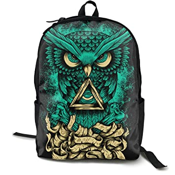 MGTXL Personality Knapsack Cool Owl - Mochila para Ordenador portátil, diseño de búho: Amazon.es: Hogar